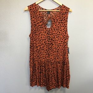 NWT Forever 21 leopard print romper